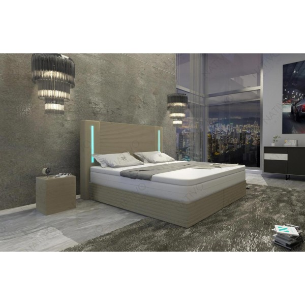 Compleet bed MOON v2 met LED verlichting NATIVO design meubelen Nederland