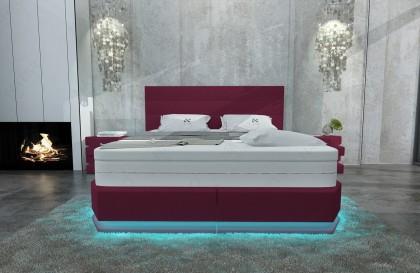 Compleet bed LUISA v2 met lattenbodem en SILVER PROTECT matras
