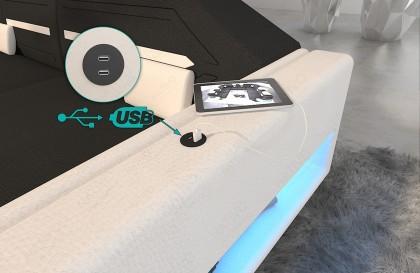 Design 2-zitsbank ROYAL met LED verlichting en USB-poort