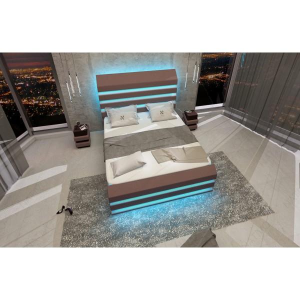 Lederen 2-zitsbank ROYAL met LED verlichting en USB-poort NATIVO design meubelen Nederland