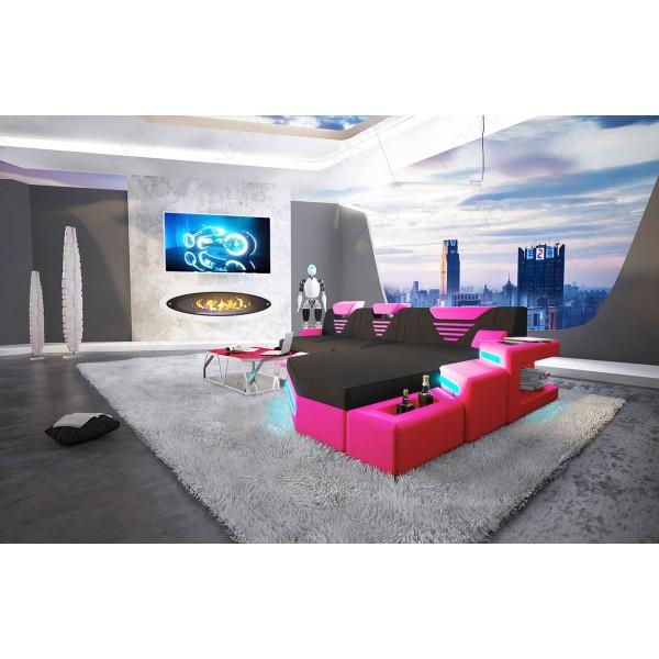 Design bank CLERMONT 3+2+1 met LED verlichting NATIVO design meubelen Nederland