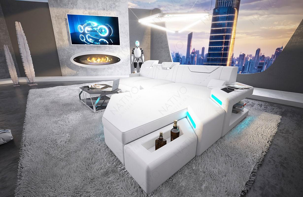 Design bank NEMESIS MINI met LED verlichting en USB-poort