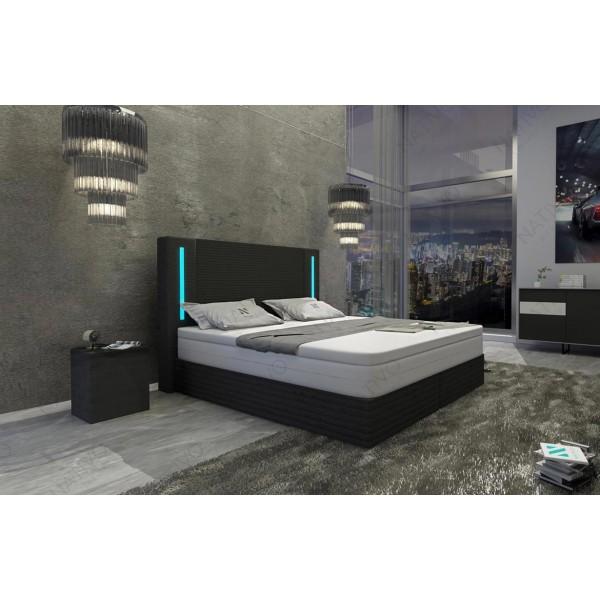 Lederen 3-zitsbank CLERMONTmet LED verlichting NATIVO design meubelen Nederland