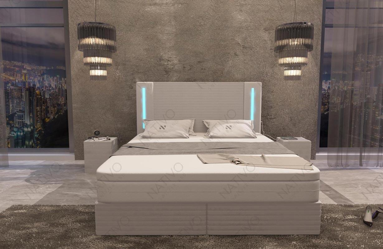 Lederen 3-zitsbank AVENTADOR met LED verlichting NATIVO design meubelen Nederland