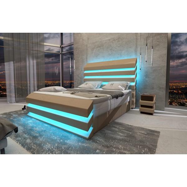 Lederen 3-zitsbank CESARO met LED verlichting NATIVO design meubelen Nederland