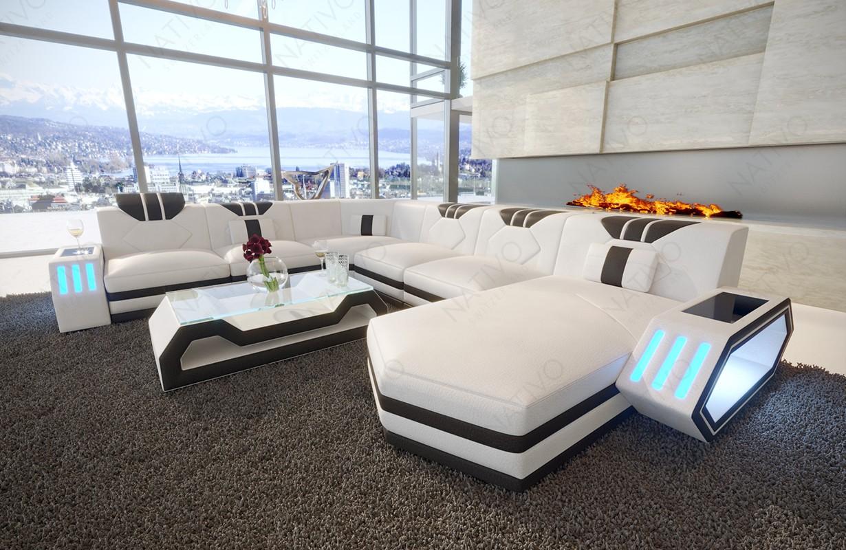 Design bank CLERMONT XXL met LED verlichting