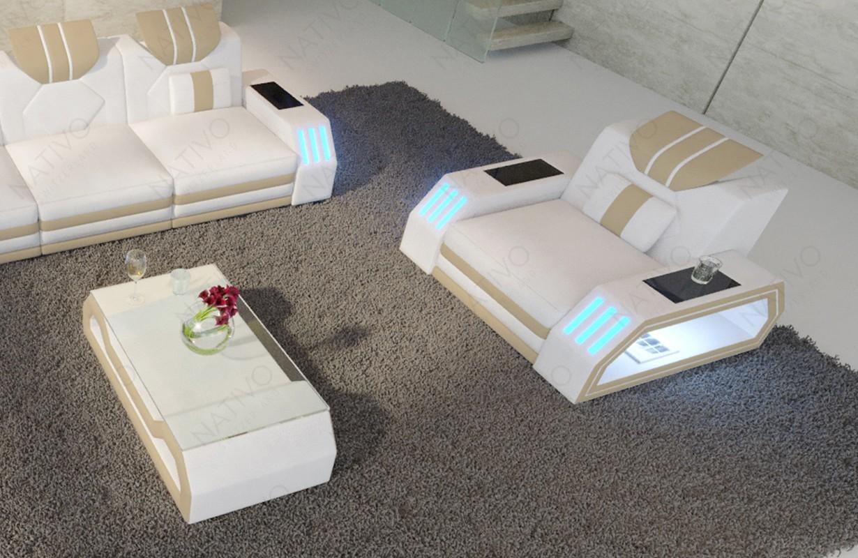 Design fauteuil CLERMONT met LED verlichting