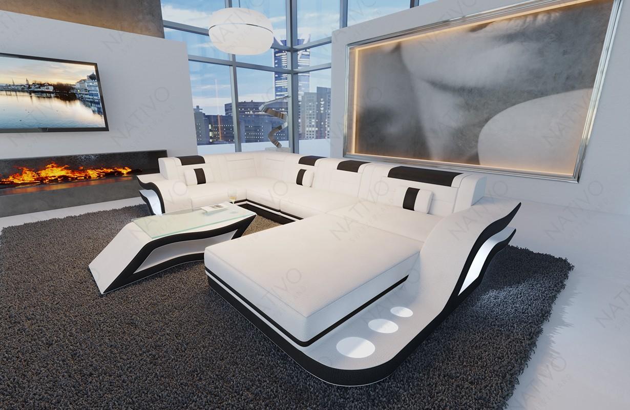 Design bank HERMES XL met LED verlichting