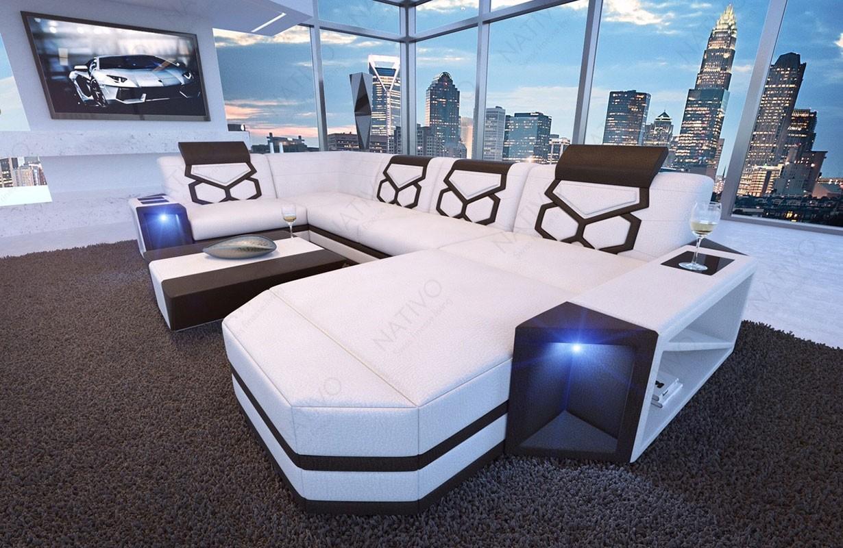 Design bank AVENTADOR XL met LED verlichting