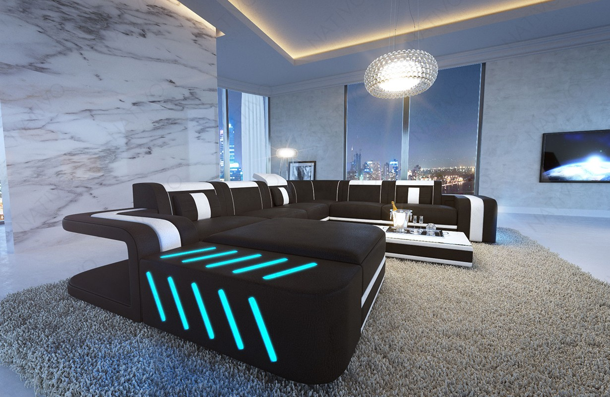 Design bank SPACE XXL met LED verlichting