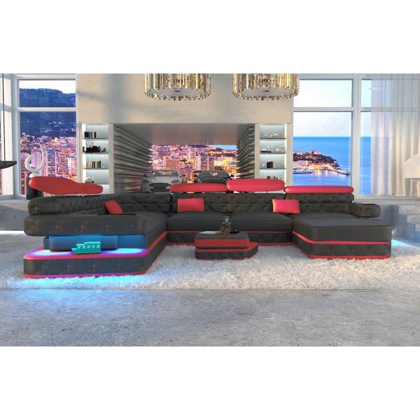 Design bank AVENTADOR XL CORNER met LED verlichting NATIVO design meubelen Nederland