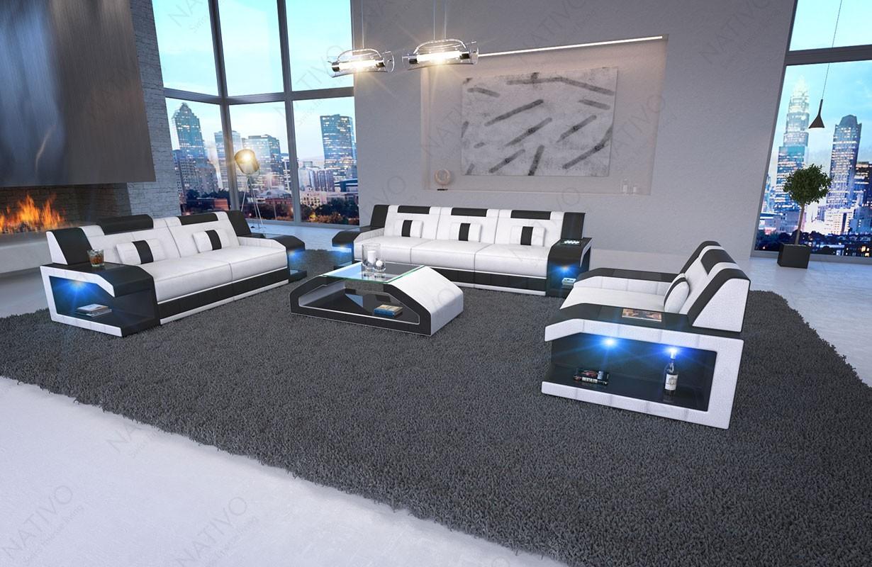 Design bank MATIS 3+2+1 met LED verlichting