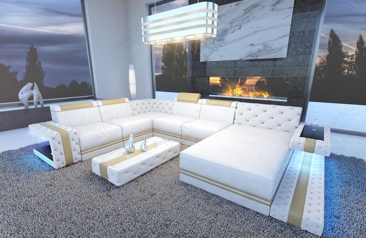 Design bank IMPERIAL XXL met LED verlichting
