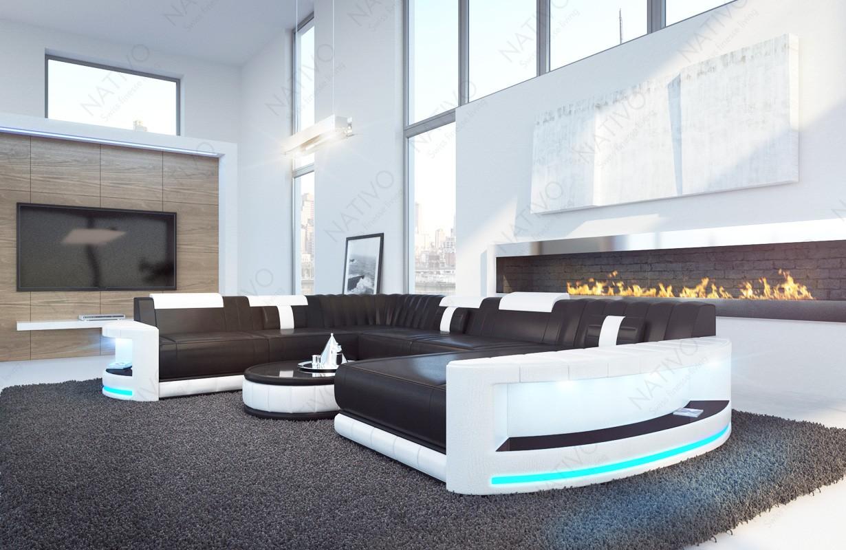 Design bank ATLANTIS XXL met LED verlichting