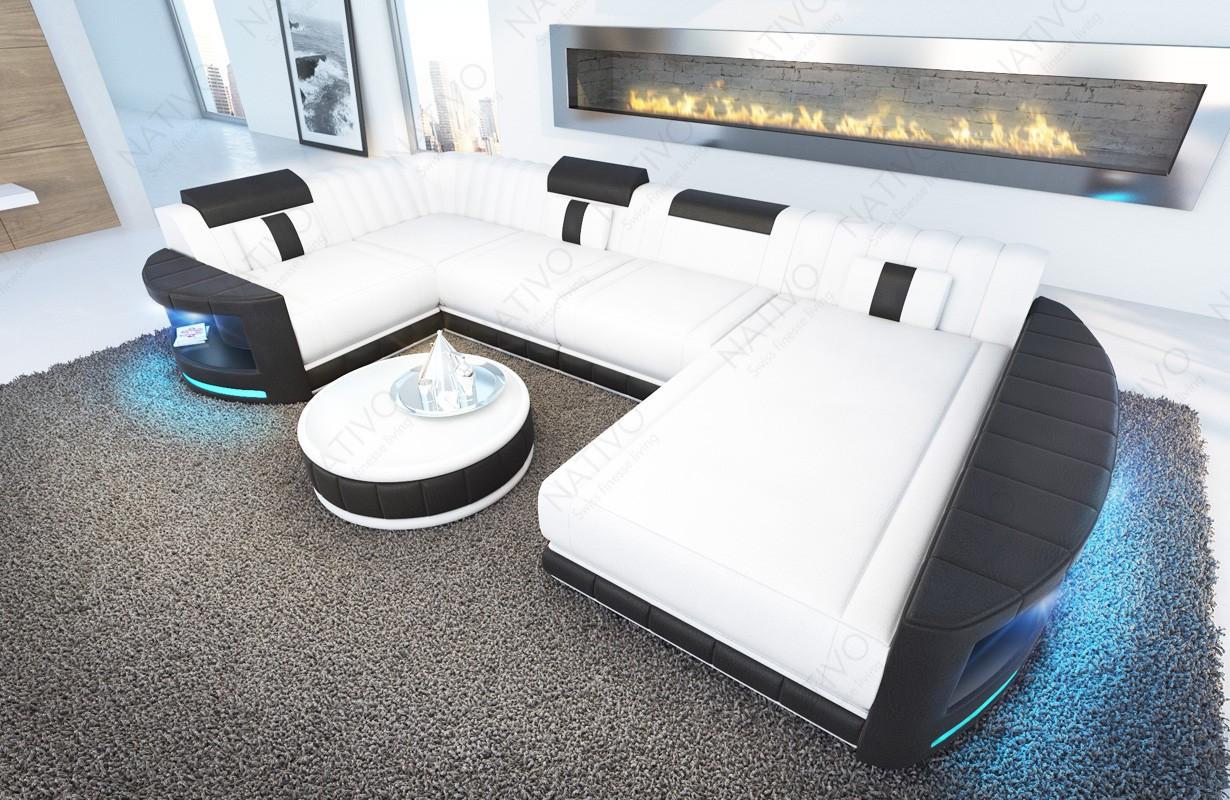 Design bank ATLANTIS XL met LED verlichting
