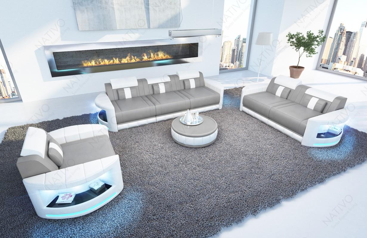 Design bank ATLANTIS 3+2+1 met LED verlichting