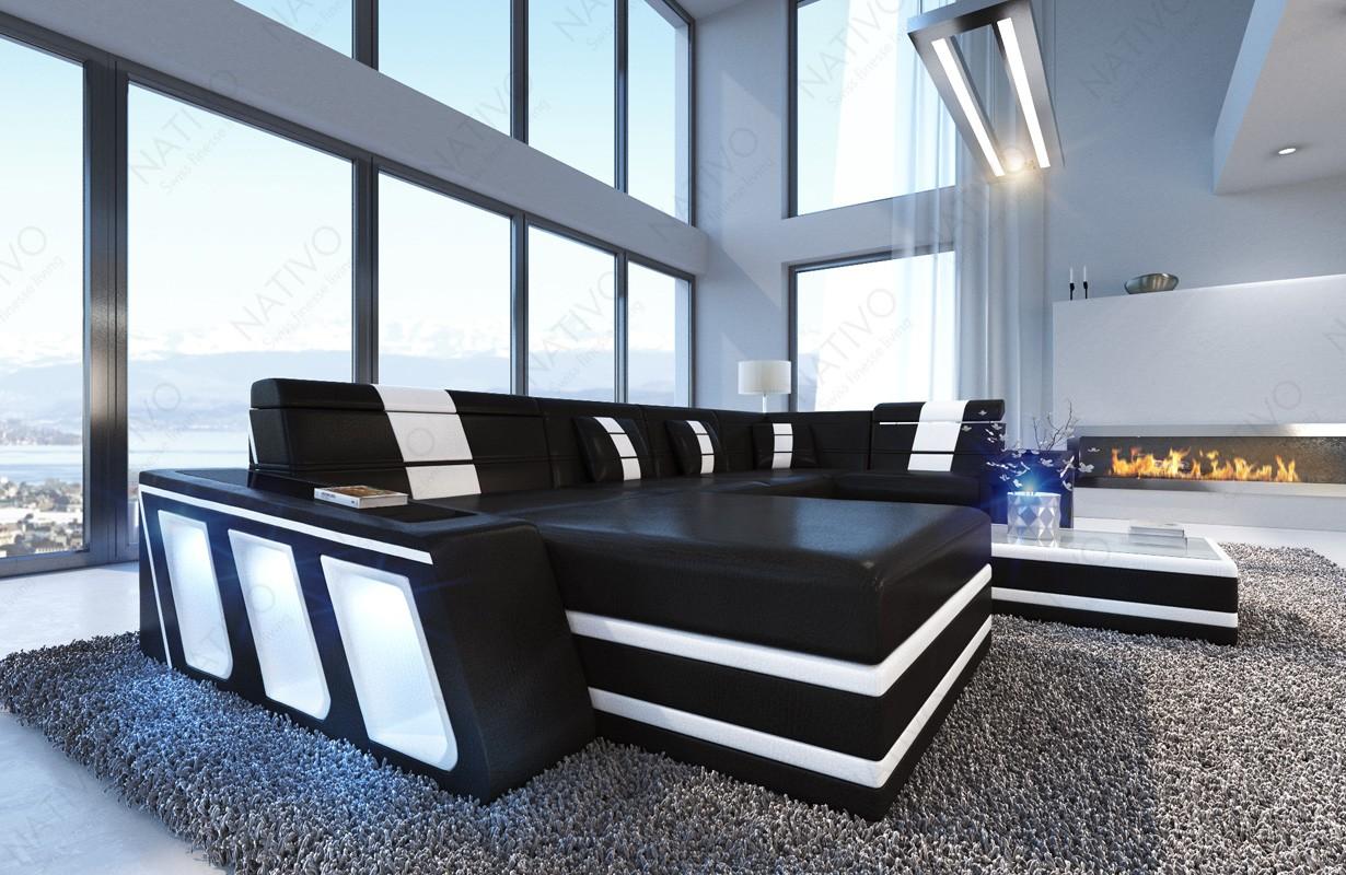 Design bank CAREZZA XL met LED verlichting