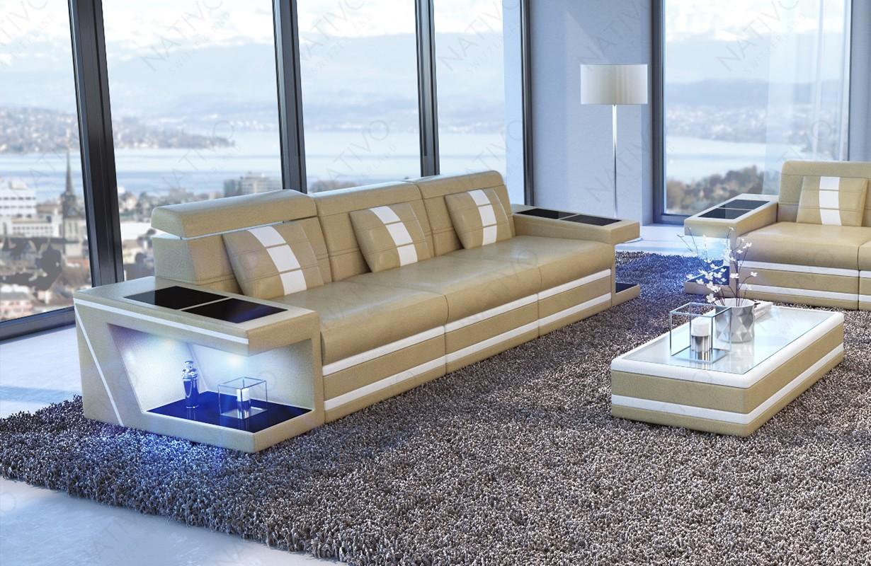 Design 3-zitsbank CAREZZA met LED verlichting