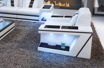 Design fauteuil ROYAL met LED verlichting en USB-poort NATIVO design meubelen Nederland