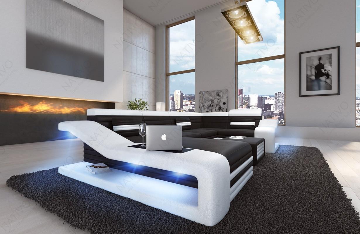 Design bank MIRAGE XL met LED verlichting