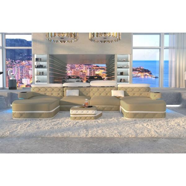Design bank AVENTADOR 3+2+1 met LED verlichting NATIVO design meubelen Nederland