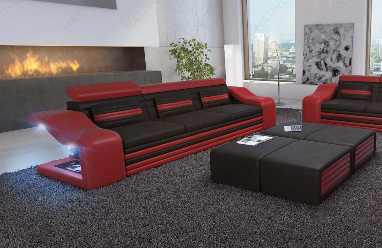 Design 3-zitsbank MIRAGE met LED verlichting