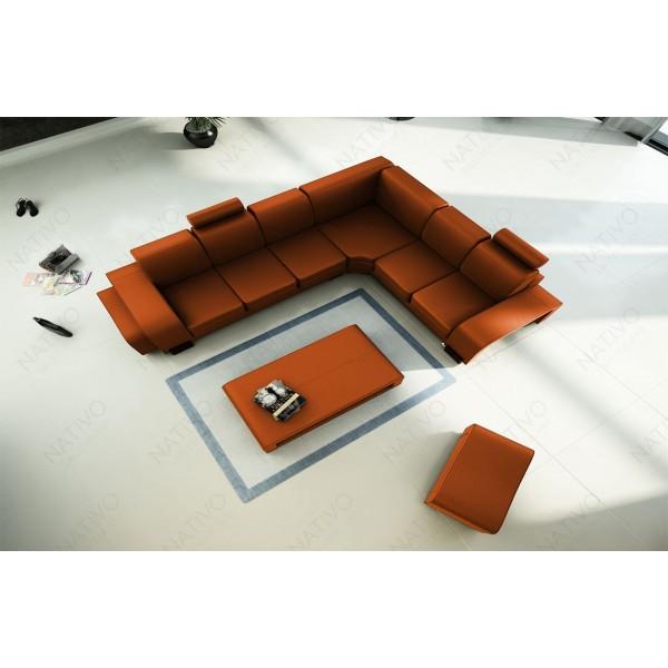 Design bank CLERMONT XL U-vorm met LED verlichting