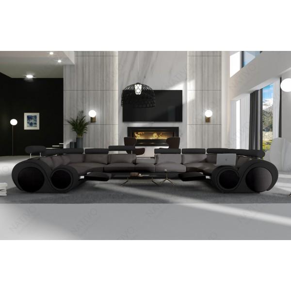 Slaapbank CLERMONT XXL met LED verlichting NATIVO design meubelen Nederland