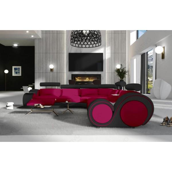 Slaapbank CLERMONT XL U-vorm met LED verlichting NATIVO design meubelen Nederland