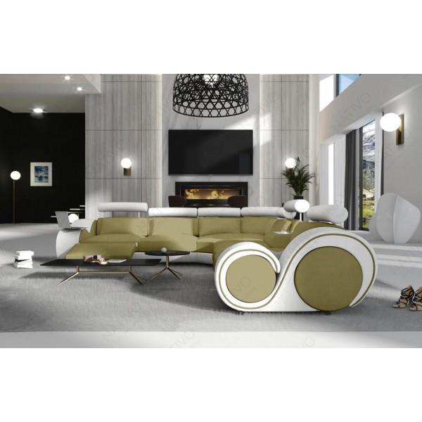 Slaapbank CLERMONT CORNER met LED verlichting NATIVO design meubelen Nederland