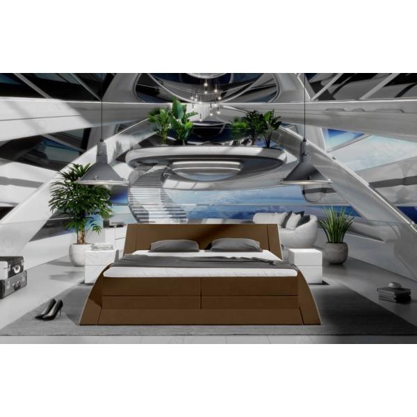 Slaapbank HERMES XL met LED verlichting NATIVO design meubelen Nederland