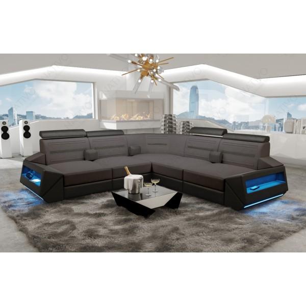 Slaapbank AVENTADOR XL CORNER met LED verlichting NATIVO design meubelen Nederland