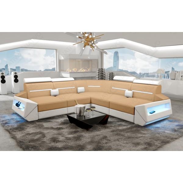 Slaapbank AVENTADOR XL met LED verlichting NATIVO design meubelen Nederland
