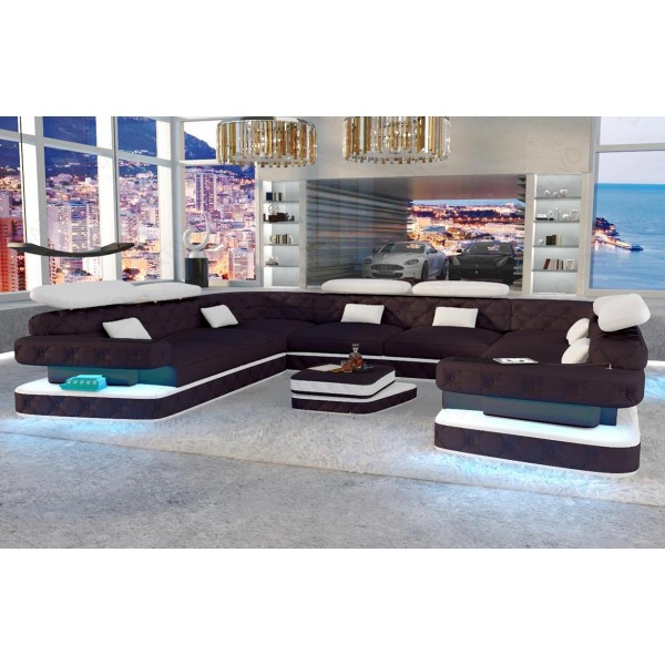 Slaapbank SPACE XXL met LED verlichting  NATIVO design meubelen Nederland