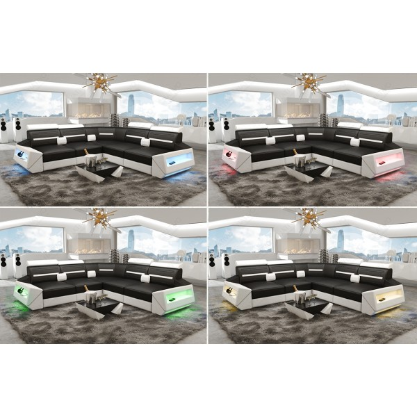 Slaapbank SPACE XL met LED verlichting NATIVO design meubelen Nederland
