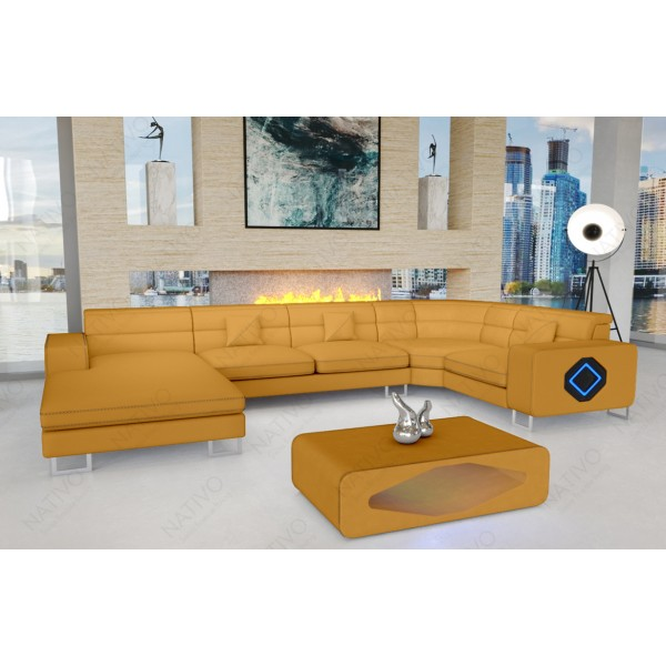 Slaapbank MATIS XXL met LED verlichting NATIVO design meubelen Nederland