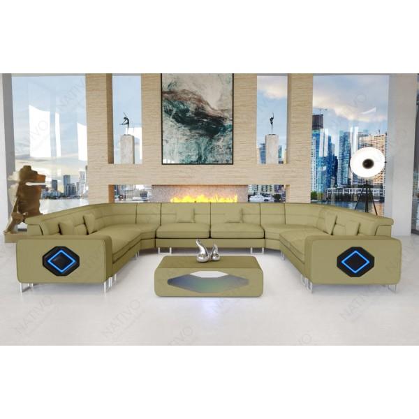 Slaapbank CESARO MINI met LED verlichting NATIVO design meubelen Nederland