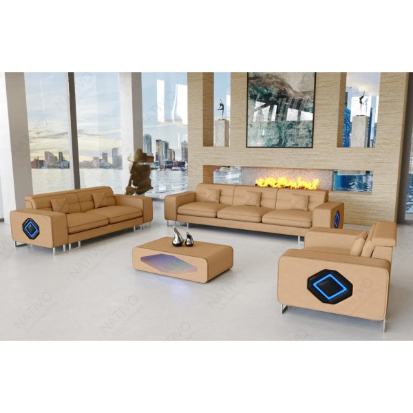 Slaapbank IMPERIAL XL met LED verlichting NATIVO design meubelen Nederland