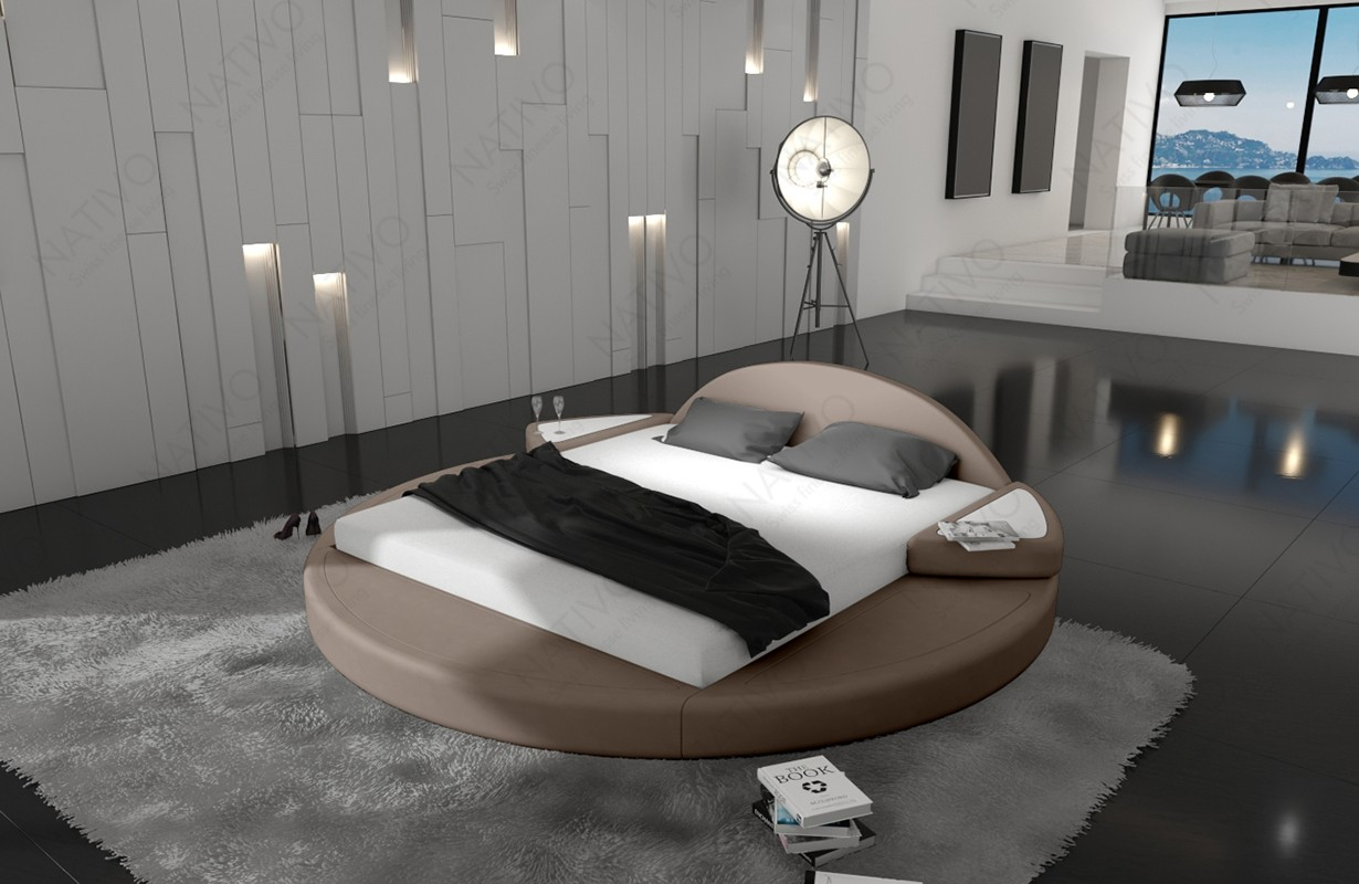 Rond design bed PLUTO ©iconX STUDIOS