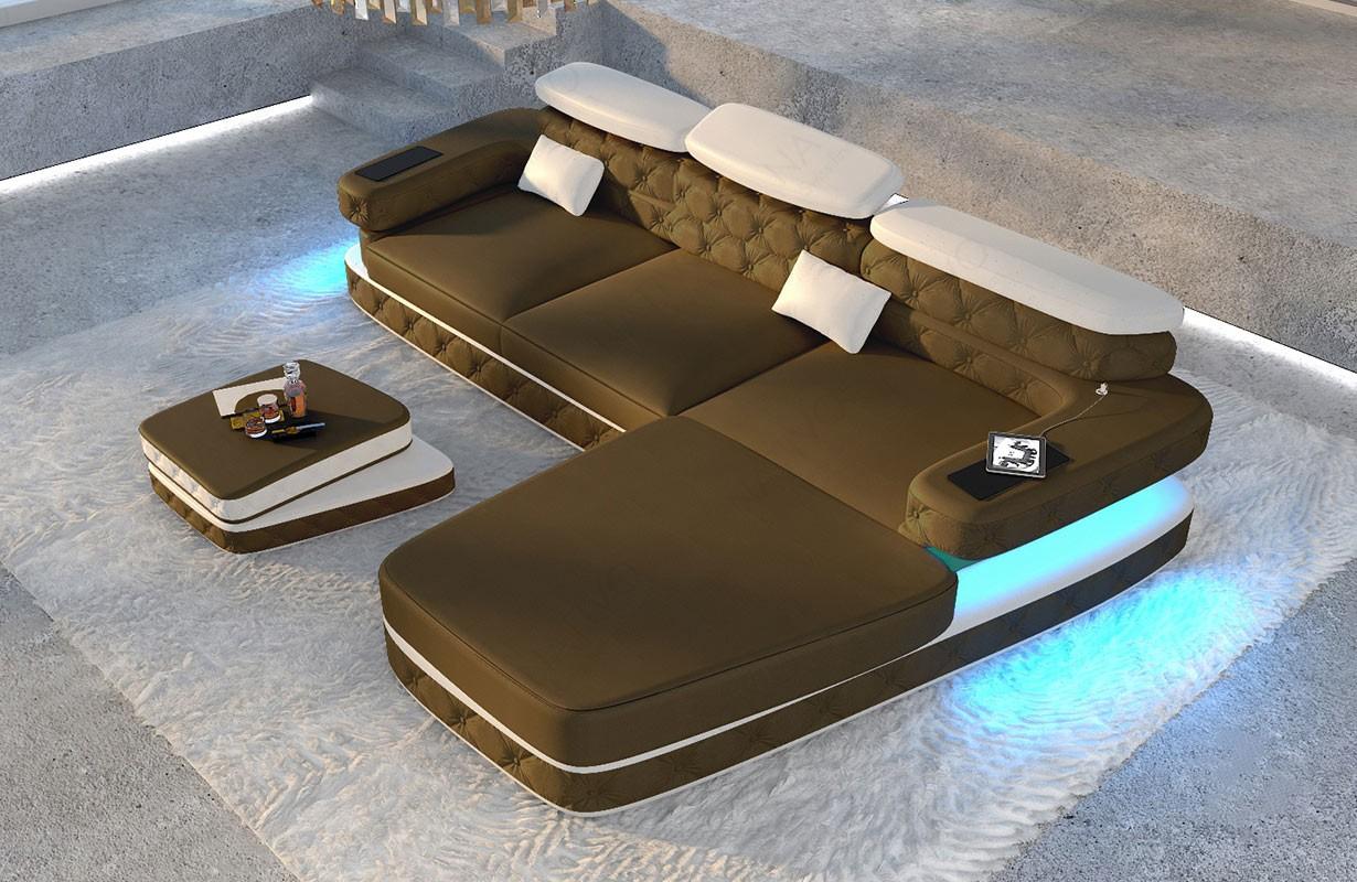 Design bank MATIS 3+2+1 met LED verlichting NATIVO design meubelen Nederland