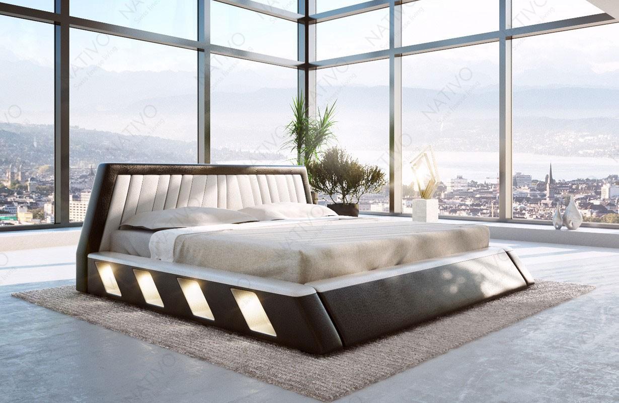 Gestoffeerd bed LENOX met LED verlichting
