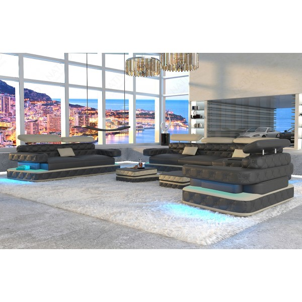 Design bank CESARO XXL met LED verlichting NATIVO design meubelen Nederland
