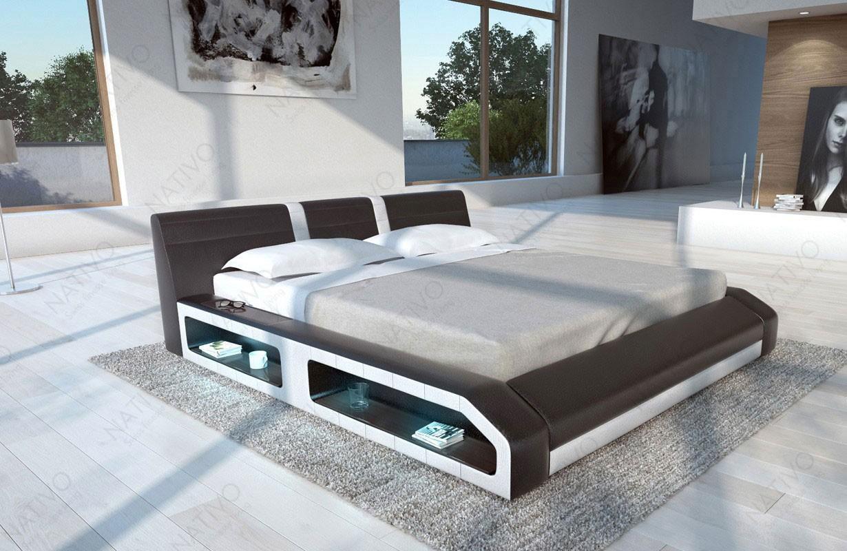 Gestoffeerd bed FLOYD met LED verlichting