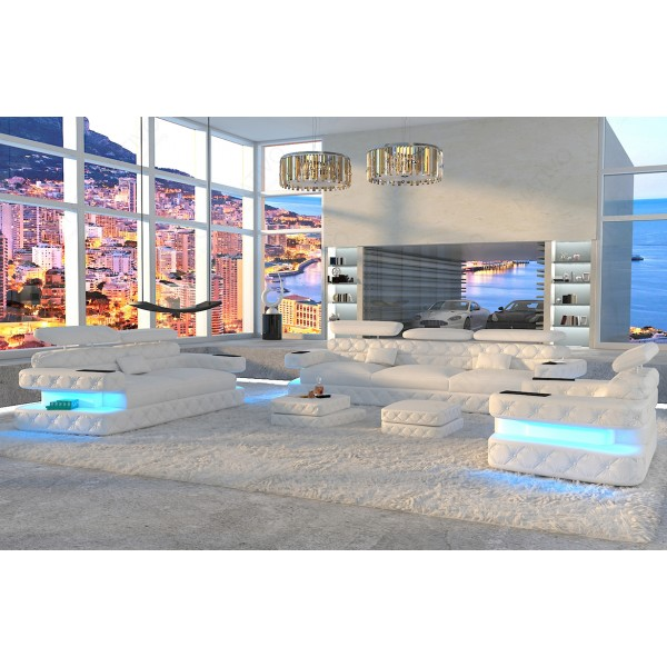 Design bank CESARO MINI met LED verlichting NATIVO design meubelen Nederland