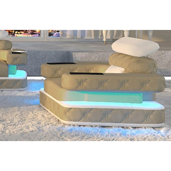 Design bank CESARO 3+2+1 met LED verlichting NATIVO design meubelen Nederland