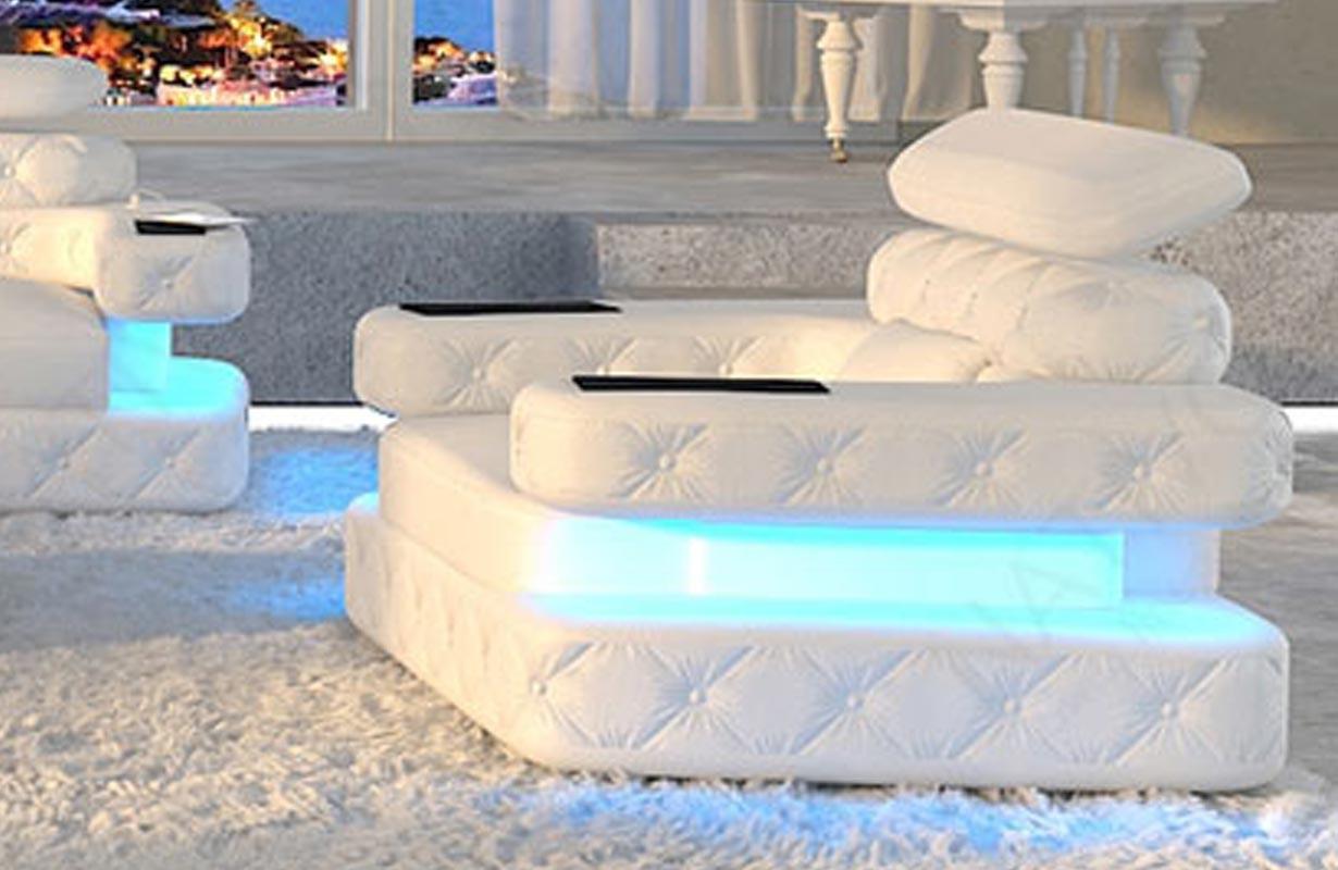 Design fauteuil EXODUS met LED verlichting en USB-poort