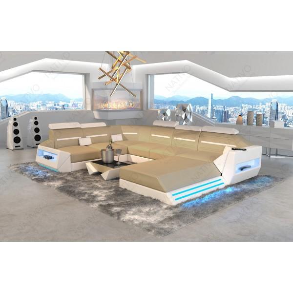 Design bank IMPERIAL XL met LED verlichting NATIVO design meubelen Nederland