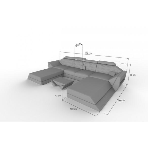 Design bank IMPERIAL CORNER met LED verlichting NATIVO design meubelen Nederland
