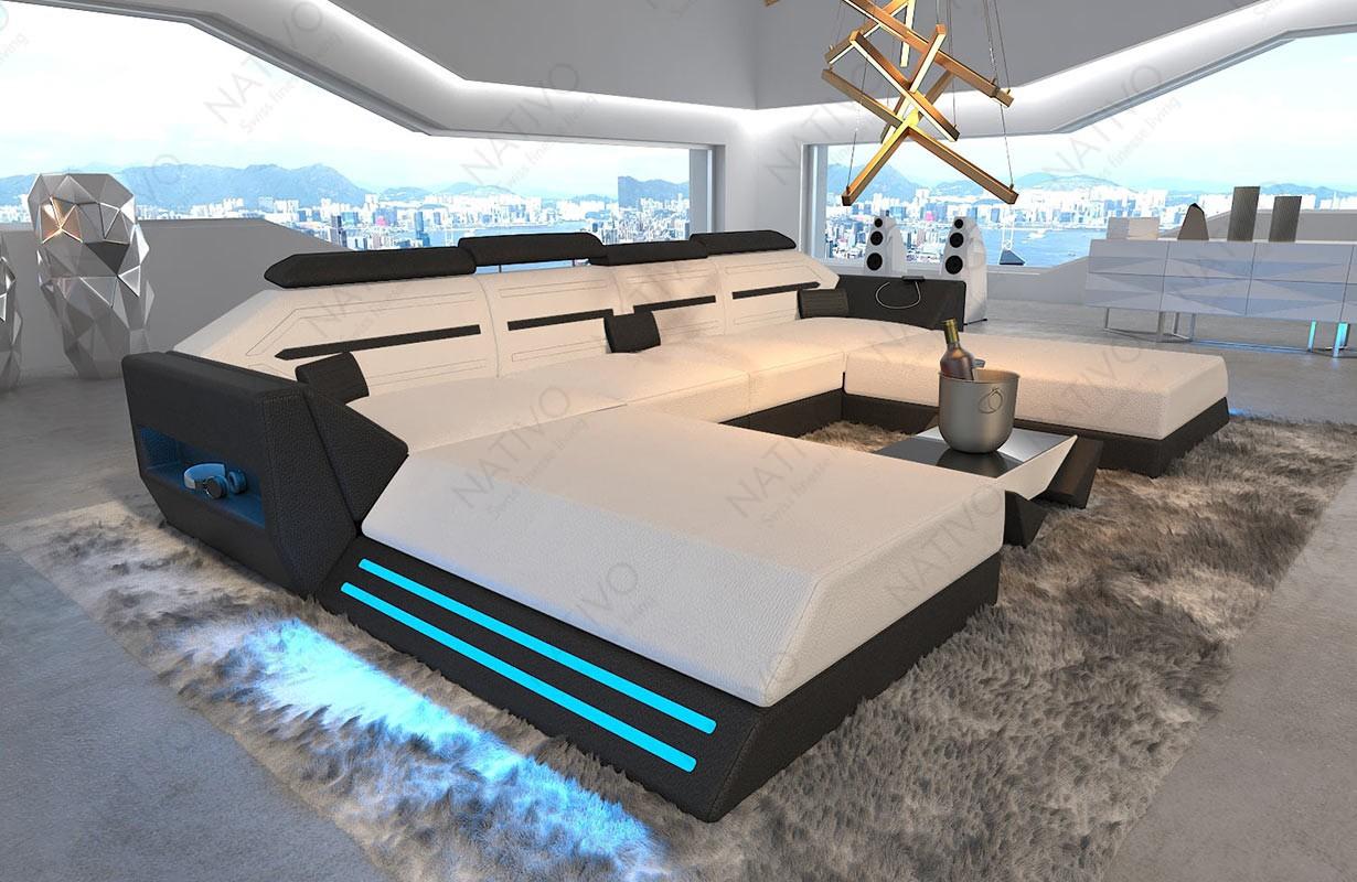 Design bank AVATAR XXL DUO met LED verlichting en USB-poort