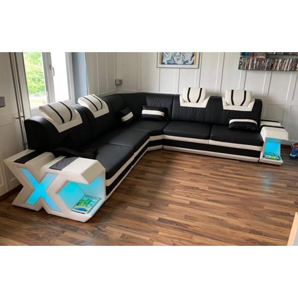 Design bank IMPERIAL 3+2+1 met LED verlichting NATIVO design meubelen Nederland